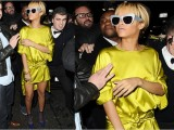 rihanna in chartreuse