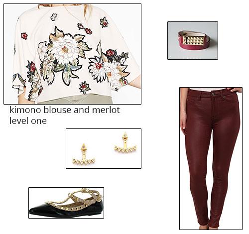 1. Floral Print Kimono Top