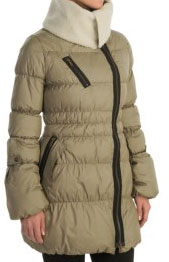 Neve Scarlett Down Jacket $199.99, available in L and XL in charcoal and S-L in natural