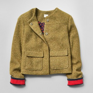 Women's Cropped Tweed Jacket - A New Day™ Olive, $34.99