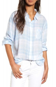 Plaid Linen Blend Shirt