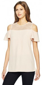 Calvin Klein Women's Cold Shoulder with Lace Detail, Amazon, $71.66