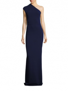 Solace London Luna One-Shoulder Crepe Gown,  Saks Fifth Avenue, was $440, now $132-$440