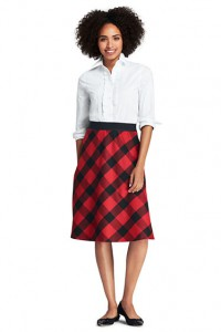 Sturdy plaid skirt