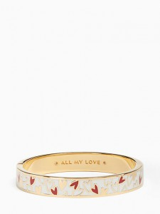All My Love Hinged Idiom Bangle, Kate Spade New York, $78