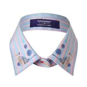 SUPERSWEET x moumi Candy Stripe Collar Blue  (16