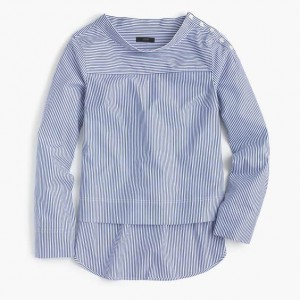 Funnelneck Striped Shirt, JCrew, $68