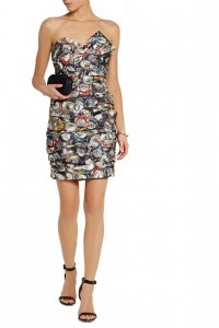 Moschino Printed Taffeta Mini Dress, The Outnet, was $3,095, now $928
