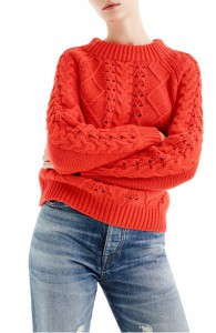 J.Crew Cable Knit Mock Neck Sweater,  Nordstrom, $89.50