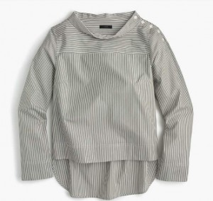 Funnelneck Striped Shirt, J.Crew, $68