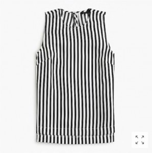 J.Crew Striped Silk Top, was $88, now $59.99