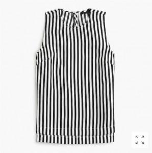 J.Crew Striped Silk Top, was $88, now $59.99